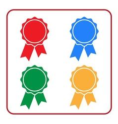 Ribbon award icons set 1 vector image vector image