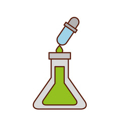 school test tube and dropper liquid science vector image