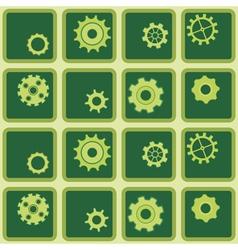 Seamless background with rackwheel vector image