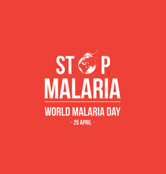 stop malaria background style vector image