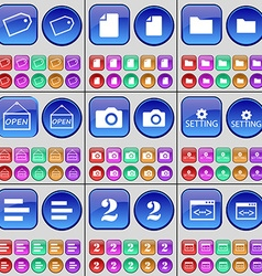 Tag file folder open camera setting list two code vector
