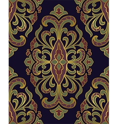 Template for oriental carpet vector image