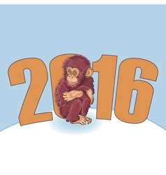 Year of the monkey beautiful hand drawn monkey vector