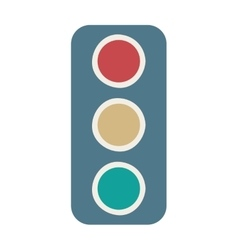 Traffic light semaphore icon vector