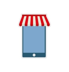 Smartphone shopping commerce market icon vector