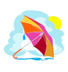 Color umbrella vector