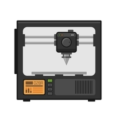 3d printer on white background vector