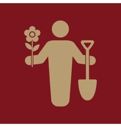The gardener avatar icon gardening and vector