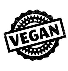 vegan rubber stamp vector image