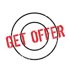 Get offer rubber stamp vector