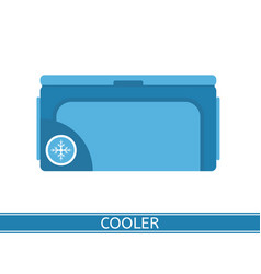 portable cooler icon vector image