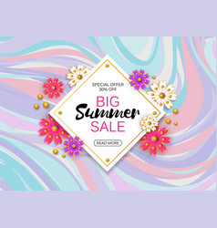 Summer sale background layout for banners vector