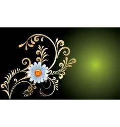 gold flowers background vector image