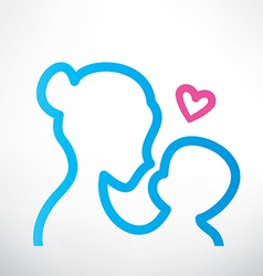Mother and baby symbol vector