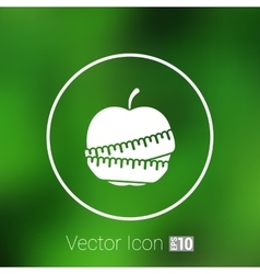 Slimming apple icon slim weight diet vector