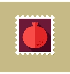 Garnet flat stamp with long shadow vector