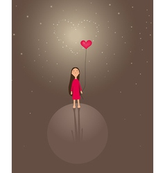 Cute valentines background vector
