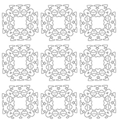 Abstract snowflakes paper garland seamless vector