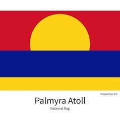 National flag of palmyra atoll with correct vector
