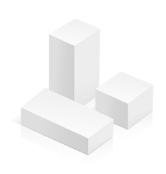 White 3d rectangles vector