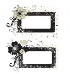 two floral vintage frame vector image