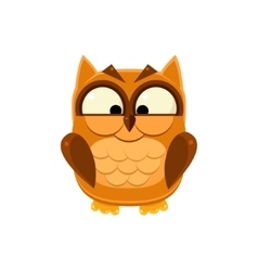 Cross-eyed brown owl vector