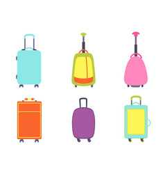 A set of modern suitcases vector