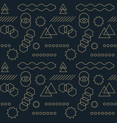abstract mechanism funny shapes seamless pattern vector image vector image