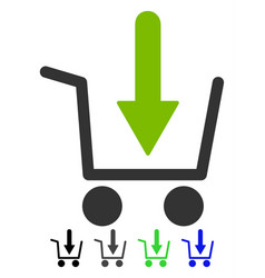 Add to basket flat icon vector