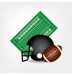 American football helmet ball vector