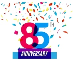 Anniversary design 85th icon anniversary vector image vector image
