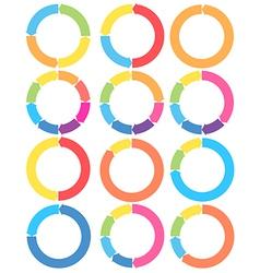 Arrow circle set vector image