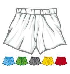 Boxer shorts collection vector
