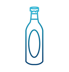 Champagne bottle isolated vector
