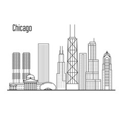 Chicago skyline - downtown cityscape vector