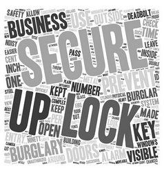 Commercial business burglary text background vector