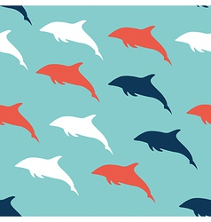 Dolphin seamless pattern background vector image vector image