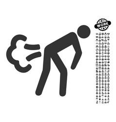 Fart icon with work bonus vector