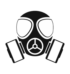 Gas mask simple icon vector