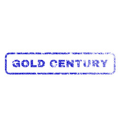 Gold century rubber stamp vector