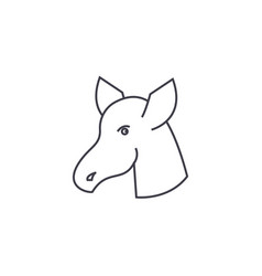 hoss line icon sign on vector image