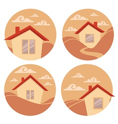 little village vector image
