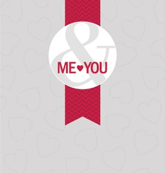 me you badge vector image