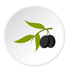Olive icon circle vector
