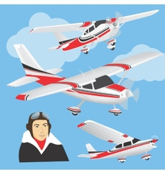 Planes with pilot vector image vector image