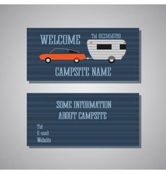 Professional and designer campsite card template vector image