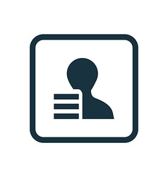 profile application icon Rounded squares button vector image