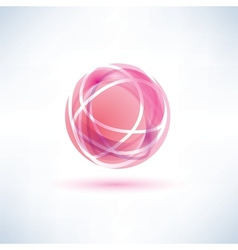 red glossy ball vector image