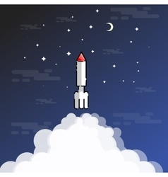 Rocket blasted outline vector