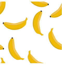 seamless pattern with ripe bananas vector image